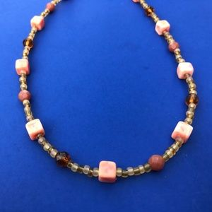 Tan beaded necklace